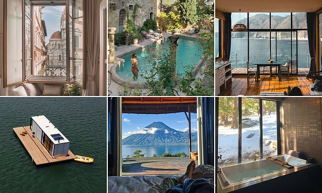 Airbnb's most-liked property pictures on Instagram during 2020