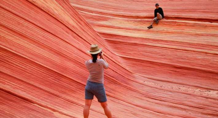 Number of allowed hikers tripled at stunning Wave formation on Utah-AZ border