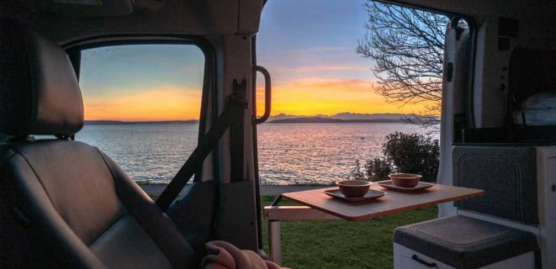 Spend Valentine's Day in a Luxe Camper Van for Two That Includes Chocolates, Flowers, and a Campsite Booking