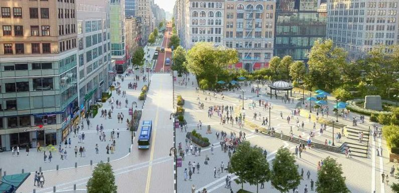 New York City's Union Square Getting $100 Million Pedestrian-friendly Makeover
