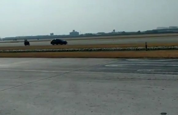 Driver takes 'wrong turn' and ends up on airport runway