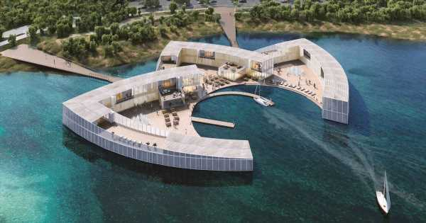 Epic £35million floating resort to open in UK with lakeside lodges and spa