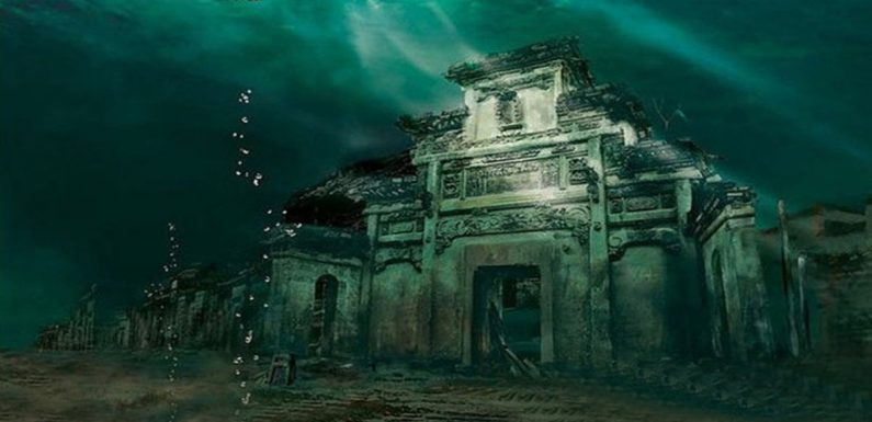 Ancient lost 'Lion City' DISCOVERED at bottom of eerie lake in China