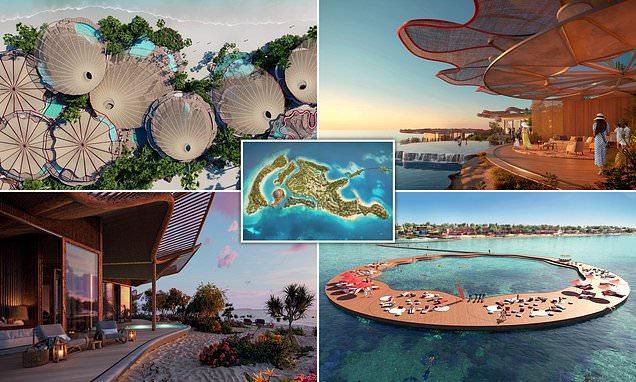 Designs revealed for gateway island to Saudi Arabia's 'giga-resort'
