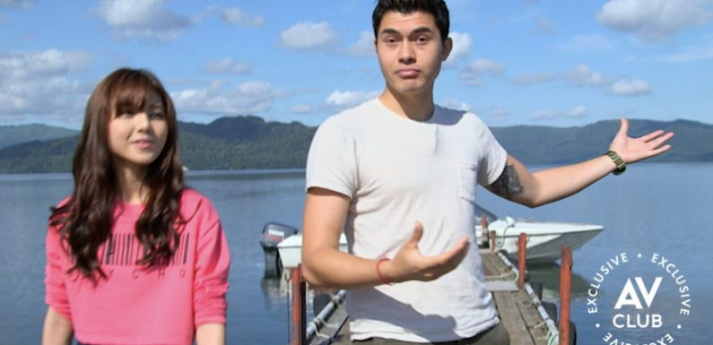 Henry Golding is the perfect travel partner in this exclusive clip from Welcome To Railworld Japan