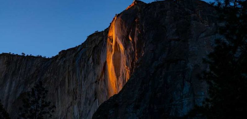 See the Stunning Photos From This Year's 'Firefall' at Yosemite National Park