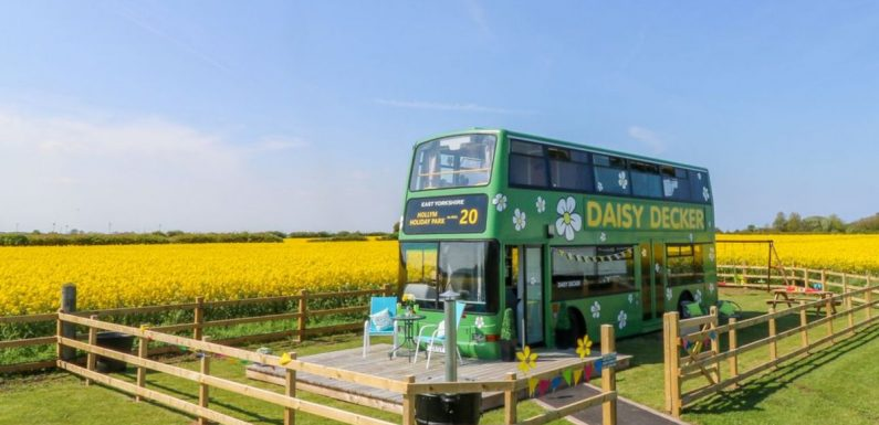 You can stay in an Instagrammable converted double-decker bus that sleeps five