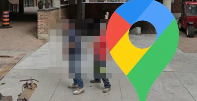 Google Maps Street View: Two builders spotted in hilarious position