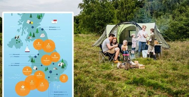 Camping holidays: Most popular UK campsites mapped – strangest places Britons stay