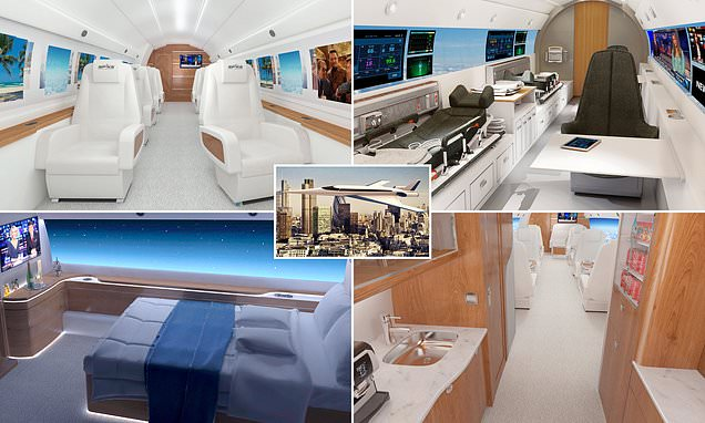 New interior images for the supersonic Spike Aerospace private jet