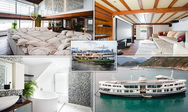 Ferry is converted into a luxury yacht and hits market for £1.9m