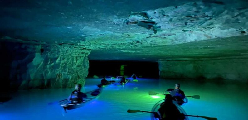You Can Paddle Through an Abandoned Mine in a Clear Kayak in Kentucky