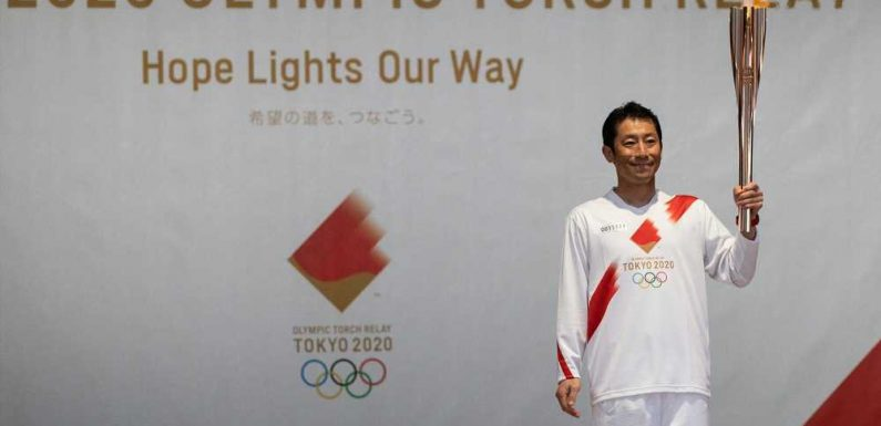 The Olympic Torch Begins Its 121-day Journey Around Japan