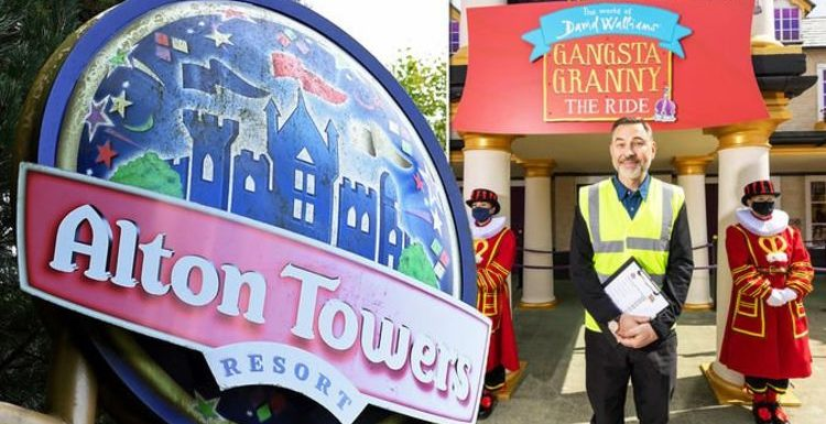 Alton Towers' new Gangsta Granny ride opened by David Walliams: 'It's pretty mind-blowing'
