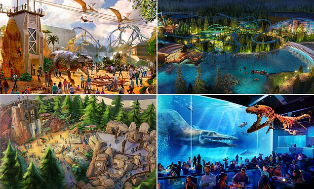 First up-close pictures released of rides at 'Britain's Disneyland'