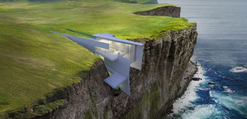 Holiday like a Bond villain in this cliff-hanging lair in Iceland