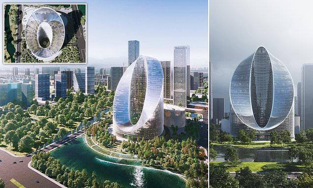 Pictured: The incredible 'infinity loop' tower