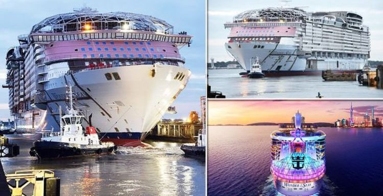 Royal Caribbean new cruise ship: Pictures of the world's biggest vessel under construction