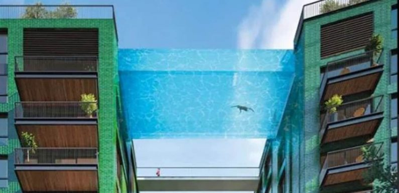 World's first floating sky pool is kind of terrifying