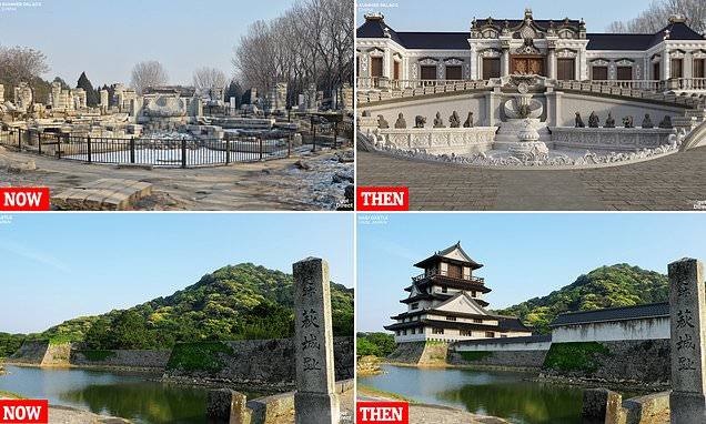 Asian castles restored to their former glory by digital wizardry