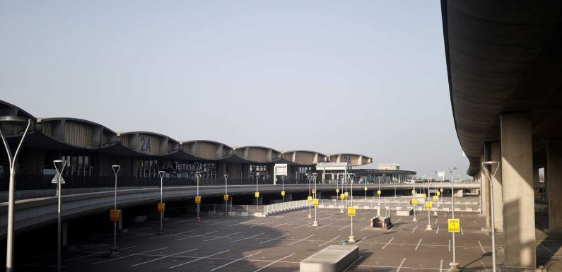 Photo shows one of the busiest airports in the world eerily empty after France's new coronavirus lockdown