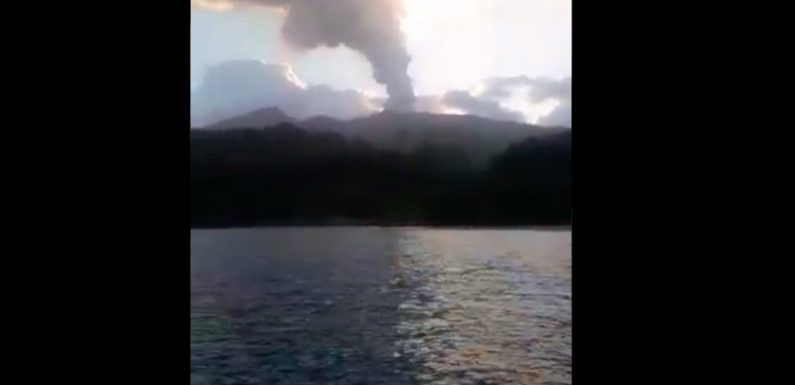 Residents of a Caribbean island are being evacuated as officials warn a volcanic eruption is 'imminent now'