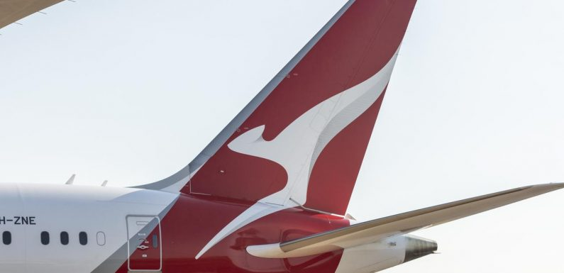 Baggage vehicle crashes into Qantas jet on tarmac