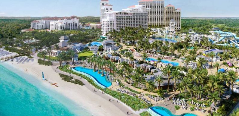 Baha Mar's New Oceanfront Water Park Will Have 24 Slides, a Coaster, and an Outdoor Casino
