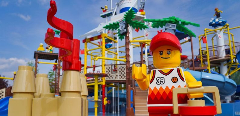 New £17 million Legoland water park to open in June with sandy beach and slides