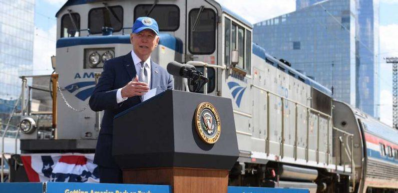 President Joe Biden Talks Benefits of Train Travel During Amtrak's 50th Anniversary Celebration