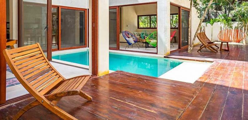 This Jungle Villa in Tulum Sleeps 12 People and Has Its Own Private Pool and Gym