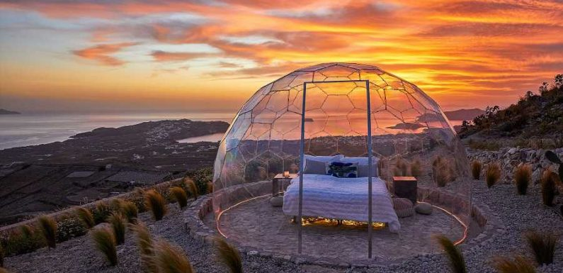 This New Sky Dome in Santorini Offers Epic Stargazing and Sunset Views