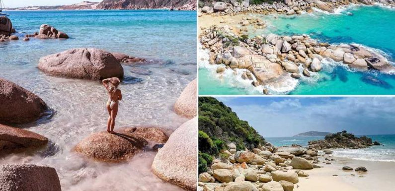 This beach looks like the Seychelles but it's near a major Aussie city