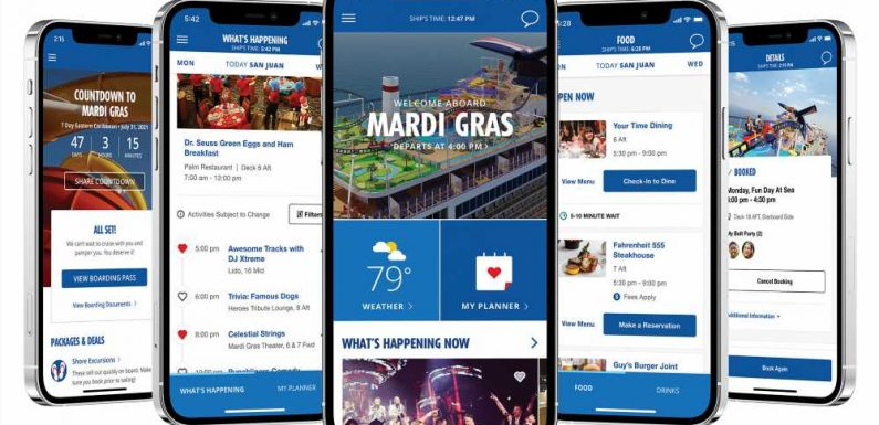 Carnival's Hub app will have more uses