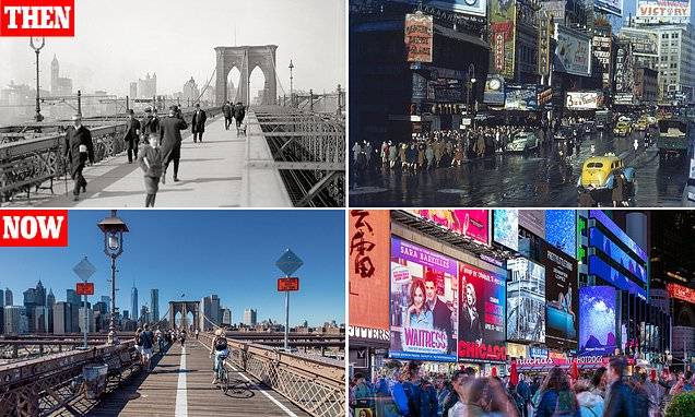 New York – then and now, in pictures