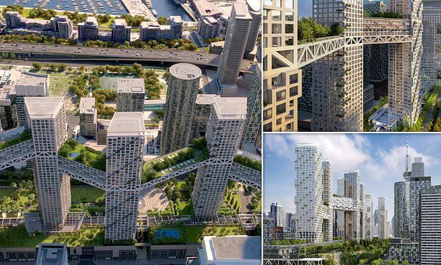 Pictured: The eye-opening design for a mini city in the sky in Toronto