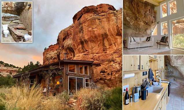 Release your inner Flintstone at this rock-face Airbnb