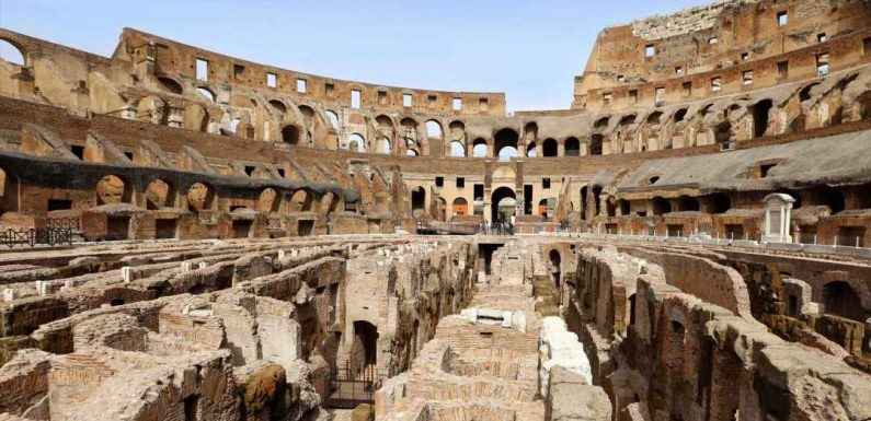 A Look Inside the Colosseum's Long-Hidden Gladiator Tunnels