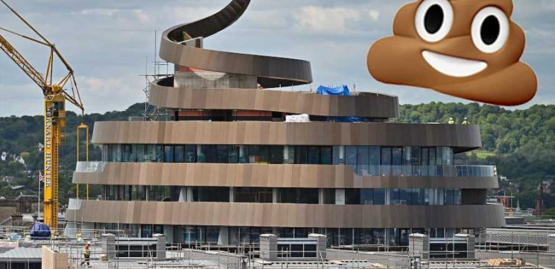 An upscale hotel in Scotland is being mocked for resembling the poop emoji