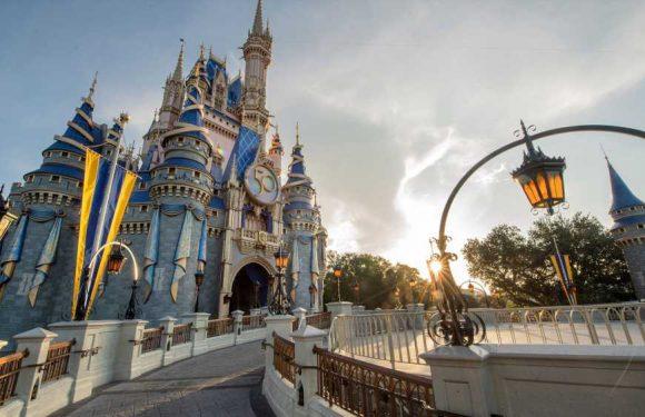 Cinderella Castle gets golden crest to celebrate Disney's 50th anniversary