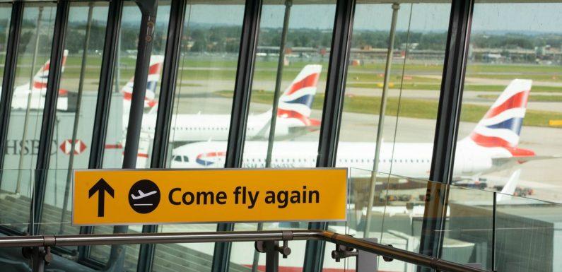 Heathrow Airport celebrates quarantine-free travel by giving away free flights