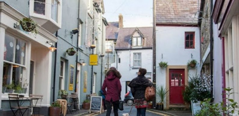 Inside the Welsh town boasting country views, nature trails and cosy cafes