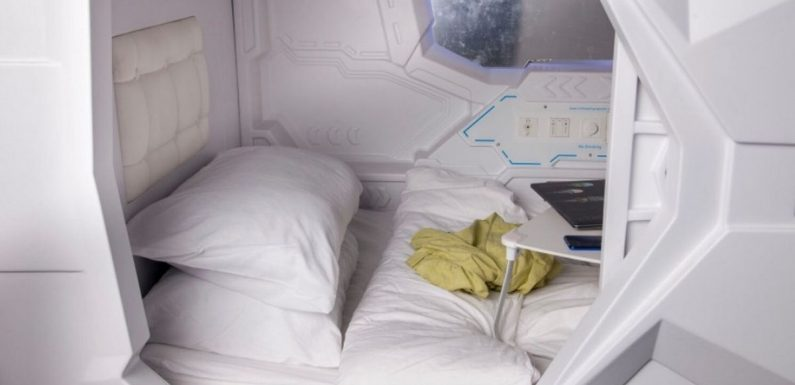 Japanese-style affordable 'capsule hotels' open up in the UK for £30 a night