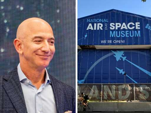 Jeff Bezos just gave $200 million to the Smithsonian's Air and Space Museum, the heftiest donation the institution has ever received