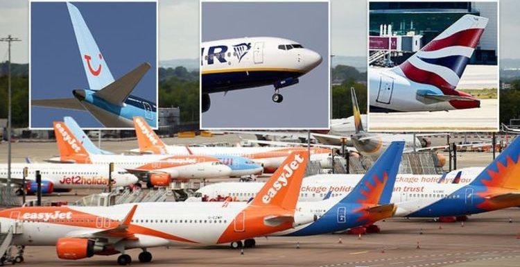 Jet2, easyJet, TUI, British Airways and Ryanair updates amid latest amber list overhaul