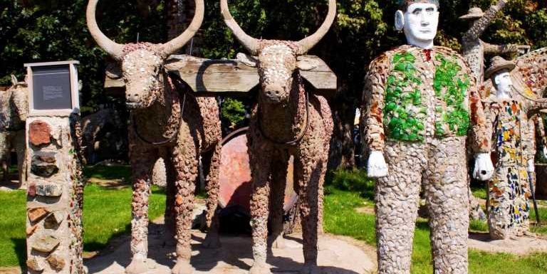 Wisconsin's folk art shines, from rhinestone cottages to rusty spaceships