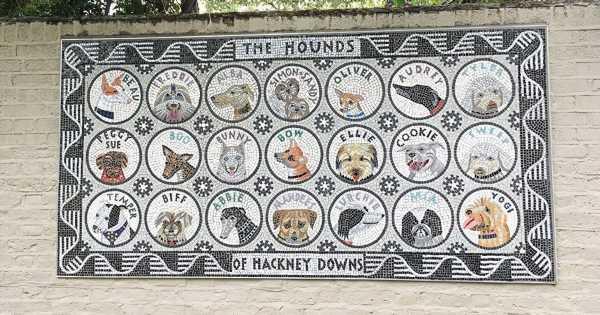 Graffiti-busting mosaic wall pays tribute to adorable neighbourhood pups