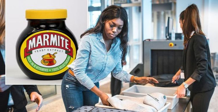 Hand luggage: Strict rules could see Marmite and jam confiscated by security