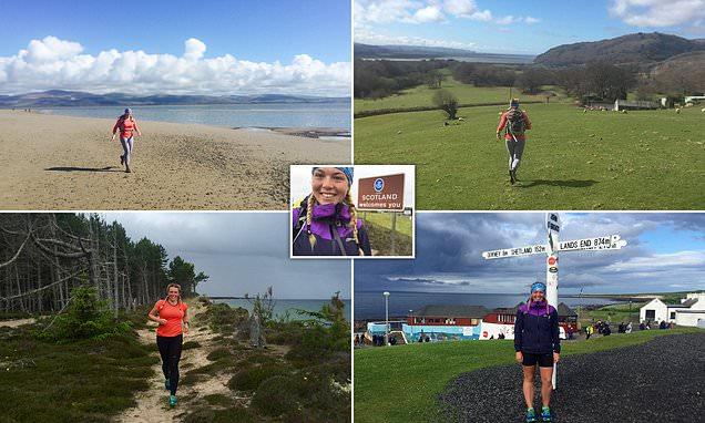Meet intrepid Elise Downing, who RAN around the coast of Britain
