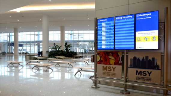New Orleans airport open, but most flights are canceled